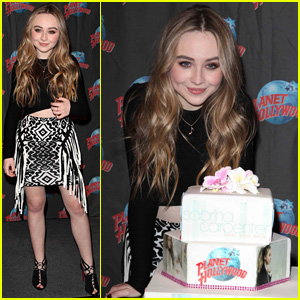 Sabrina Carpenter Brings a Big Crowd of Fans to Planet Hollywood in NYC