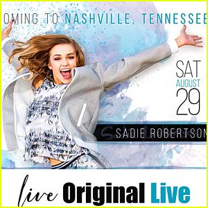 Sadie Robertson Reveals More Details About 'Live Original Live' College Tour Stop