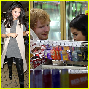 Selena Gomez Spotted Hanging Out With Ed Sheeran Ed Sheeran Selena Gomez Just Jared Jr