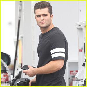 Spencer Boldman is Brooding at the Gas Station