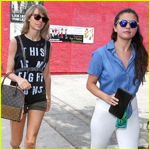 Taylor Swift & Selena Gomez Grab Girls' Lunch