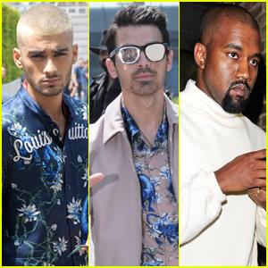 Zayn Malik, Joe Jonas, & Kanye West Make the Perfect Paris Fashion Week Trio!