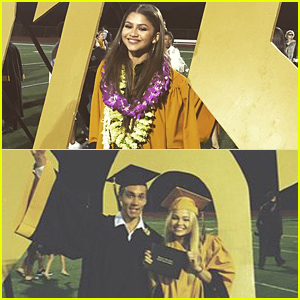 Zendaya, Olivia Holt, Sadie Calvano & Austin North Graduate High School Together!