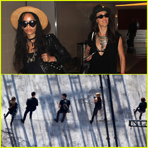 Zoe Kravitz & Maggie Q Make Their Way to Atlanta For More 'Allegiant: Part 1'