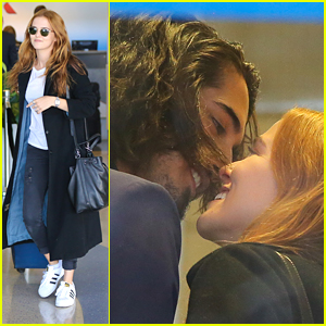Avan Jogia Shares Cute Kiss With Zoey Deutch Ahead of Flight
