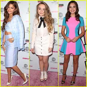 Zendaya, Sabrina Carpenter & Bailee Madison Put The Beauty in 'BeautyCon'