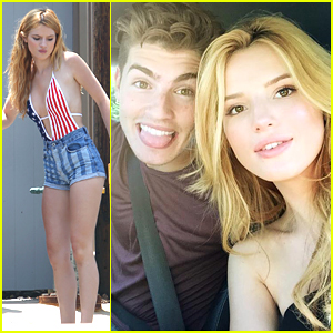 Bella Thorne Celebrates 4th of July With Gregg Sulkin in Malibu