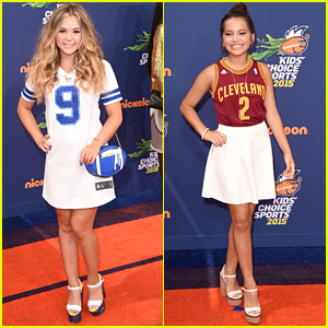 Brec Bassinger & Isabela Moner Are Sporty Chic At Nickelodeon's Kids' Choice Sports 2015