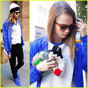 Cara Delevingne Wears Cute Cupcake Beanie With Cherry On Top