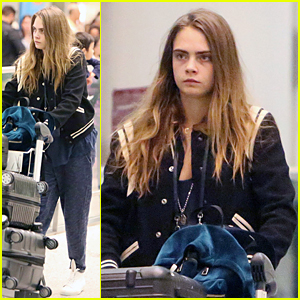 Cara Delevingne Gets Back to Work on 'Suicide Squad' With Joel Kinnaman