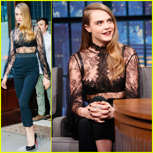 Cara Delevingne Stops by 'Seth Meyers' to Chat 'Paper Towns' & 'Suicide Squad'