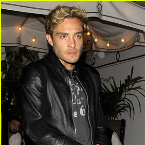 Ed Westwick Dines Out At Chateau Marmont With Model Julia Gall