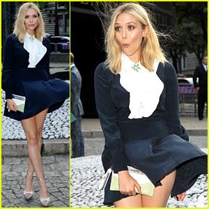 Elizabeth Olsen Handles Her Wardrobe Malfunction Like a Pro
