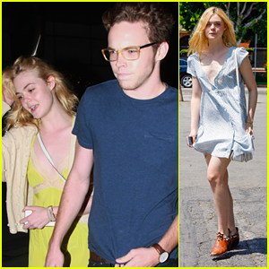edea8bdc683c Elle Fanning Has Movie Date Night with Zalman Band