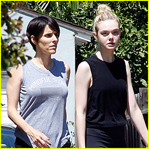 5f5c23a2a05d Elle Fanning Is Ready to Work Out With a Pal
