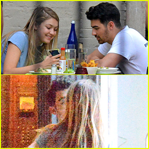 Gigi Hadid & Joe Jonas Kiss After Dinner!