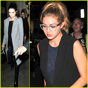 Gigi Hadid Rocks Glasses At Dinner With Kendall Jenner & Joe Jonas