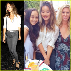 Jamie Chung Enjoys Fun Night Out With Gal Pals