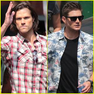 Jared Padalecki & Jensen Ackles Start Shooting Season 11 of 'Supernatural' - See the Pics!