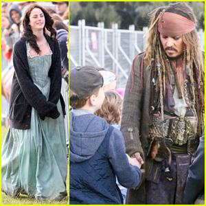 Kaya Scodelario Starts Filming New 'Pirates of the Caribbean' Movie With Johnny Depp
