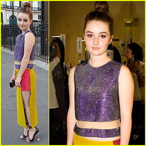 Kaitlyn Dever Sits Front Row at Versace Fashion Show in Paris!
