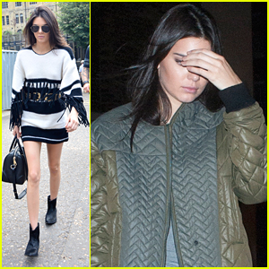 Kendall Jenner Flirts With Fringe While Checking Out A Warhol Exhibit In London