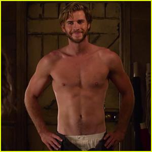 Liam Hemsworth Strips Down Shirtless in 'The Dressmaker' Trailer - Watch Now!