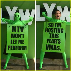 Miley Cyrus Reveals She's Hosting MTV VMAs 2015!