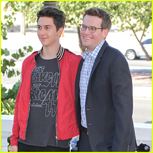 Nat Wolff & John Green Hit The 'Paper Towns' Photo Call in Rio