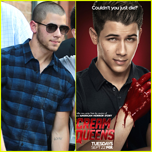 Nick Jonas Dips His Hands In Blood On New 'Scream Queens' Poster - See It Here!