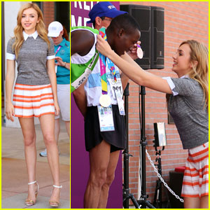 Peyton List Hands Out Gold Medals at Special Olympics 2015!
