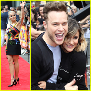Rita Ora & Olly Murs Hit Wembley Arena For X Factor Auditions in London