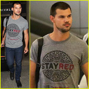 Taylor Lautner Supports The Red Road