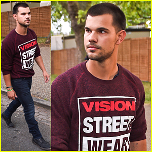 Taylor Lautner Checks Out Wireless Festival In London