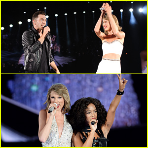 Taylor Swift Brings Special Guests Andy Grammer & Serayah to 1989's Chicago Stop!