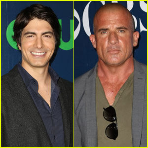 Brandon Routh & Dominic Purcell Suit Up for CW Party at TCA