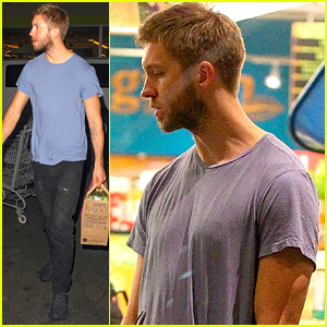 Calvin Harris Picks Up Groceries Before Belfast's Tennant Vital Festival This Weekend