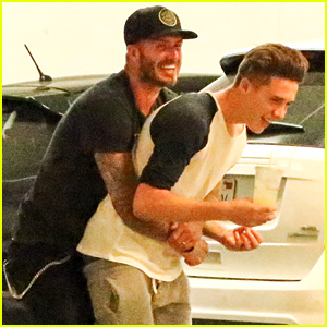 Brooklyn Beckham Horses Around With His Dad David!