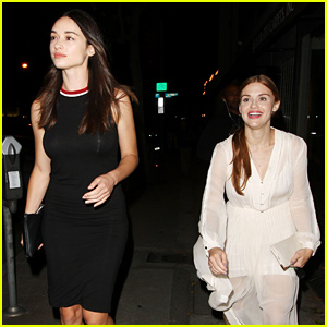 Holland Roden & Crystal Reed Reunite for Dinner!