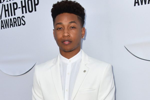 Jacob Latimore Wears Shiny Silver Sneakers To Bmi R Amp B Hip