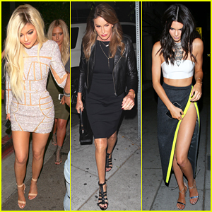 Kylie Jenner Rocks Blonde Hair for Second Birthday Dinner with Caitlyn & The Kardashians!
