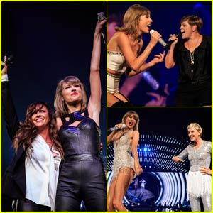 Taylor Swift Brings Out Alanis Morissette, Natalie Maines, & Ellen DeGeneres - Watch Now!