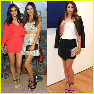 Victoria Justice & Amanda Crew Step Out For BCBG Max Azria's 2016 Collection Presentation