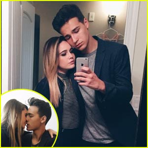 Jacob Whitesides & Bea Miller Kiss it Up at MTV VMAs 2015!