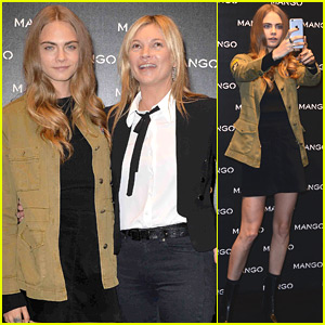 aa36bc08d Cara Delevingne Joins Kate Moss For Mango Store Appearance in Milan ...
