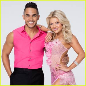 Carlos PenaVega & Witney Carson Perform A Romantic Foxtrot on 'DWTS' - Watch Now!