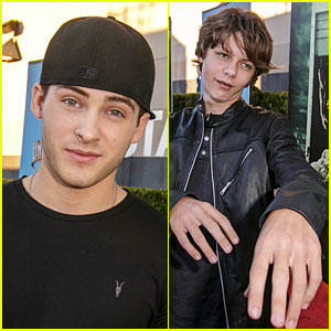 Cody Christian & Ty Simpkins Keep It Cool at Universal Studios' Halloween Horror Nights