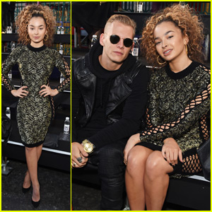 Ella Eyre & Lewis Morgan Check Out the Julien Macdonald London Fashion Show Together
