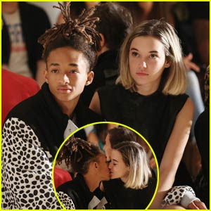 Jaden Smith Smooches Girlfriend Sarah Snyder in the Front Row of a Fashion Show!