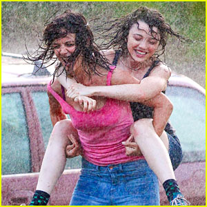 Stefania Owen Does a Rain Dance with Katie Holmes!